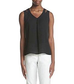 Calvin Klein Shoulder Cut Out Blouse