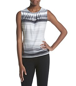 Calvin Klein Striped Pleatneck Cami