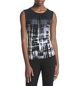 Calvin Klein Ombre Abstract Print Pleatneck Cami