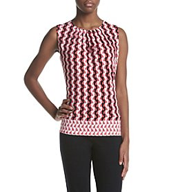 Calvin Klein Pleated Front Print Cami