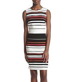 Calvin Klein Striped Sheath Dress