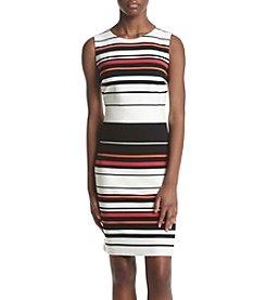 Calvin Klein Striped Sheath Dress