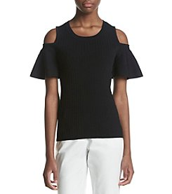 Calvin Klein Cold Shoulder Sweater Top