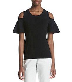 Calvin Klein Cold Shoulder Sweater Top