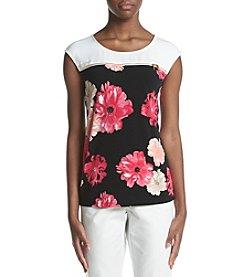 Calvin Klein Floral Printed Zip Top