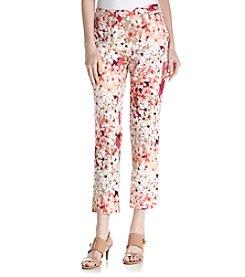 Calvin Klein Floral Printed Ankle Pants