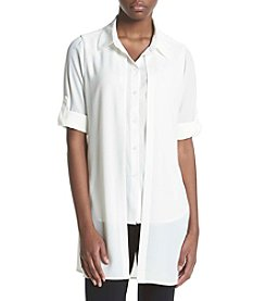 Calvin Klein Roll Sleeve Double Woven Shirt