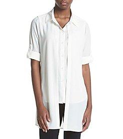 Calvin Klein Roll Sleeve Double Woven Shirt