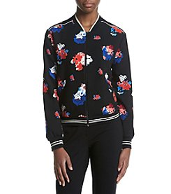 Vince Camuto® Floral Printed Bomber Jacket