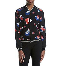 Vince Camuto&rg; Floral Printed Bomber Jacket