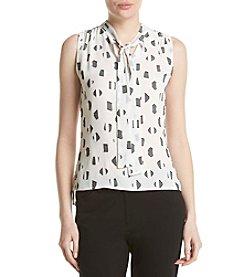Tommy Hilfiger® Textured Tie Neck Blouse