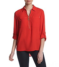 MICHAEL Michael Kors® Red Tunic Top With Pocket