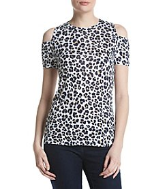 MICHAEL Michael Kors® Animal Print Cold Shoulder Top