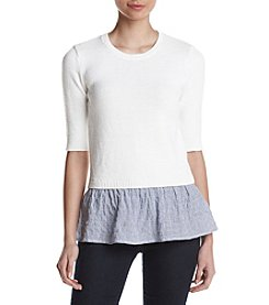 MICHAEL Michael Kors® Striped Flared Hem Sweater