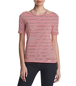MICHAEL Michael Kors® Stripe Detached Neck Top