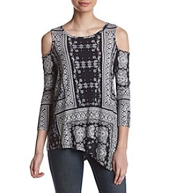 Fever™ Cold Shoulder Knit Top