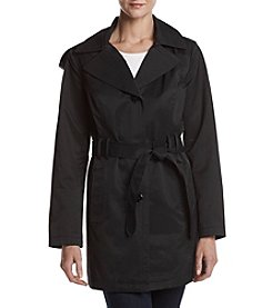 Relativity® Button Front Trench Coat