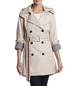 Tommy Hilfiger® High Low Belted Trench Coat