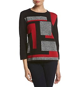 Alfred Dunner® Petites' Wrap Colorblock Sweater