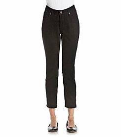 Earl Jean® Petites' Zipper Skinny Ankle Jeans