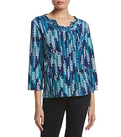 Alfred Dunner® Petites' Texture Zig Zag Sweater
