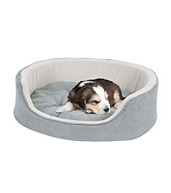 Petmaker Grey Cuddle Round Microsuede Pet Bed