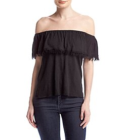 Splendid® Off-Shoulder Ruffle Top