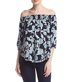 Splendid® Floral Off-Shoulder Top