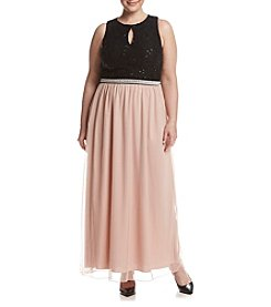 Speechless® Plus Size Lace Keyhole Top Dress