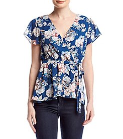 June & Hudson® Floral Wrap Blouse