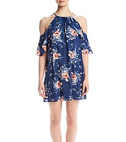 June & Hudson® Floral Cold Shoulder Dress