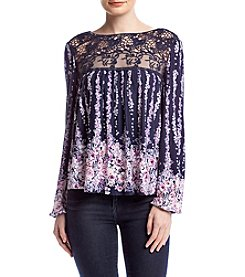 Living Doll® Floral Lace Yoke Top
