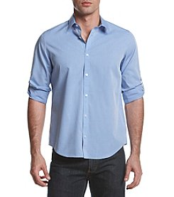 Calvin Klein Men's Woven Roll Tab Shirt