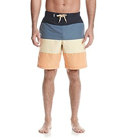 Le Tigre Men's Color Block Swim Trunks