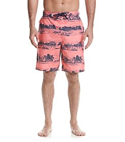 Le Tigre Men's Scenic Stripe Swim Trunks