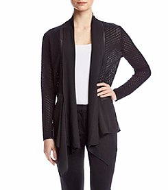 August Silk® Draped Neck Cardigan