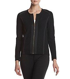 Calvin Klein Textured Zip Front Cardigan
