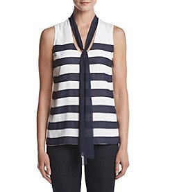 MICHAEL Michael Kors® Tie Neck Stripe Top