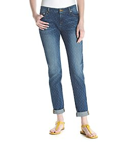 MICHAEL Michael Kors® Dot Printed Rolled Cuff Jeans
