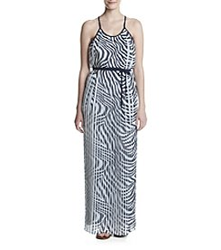MICHAEL Michael Kors® Zebra Print Pleated Maxi Dress