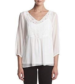 AGB® Lace Woven Blouse