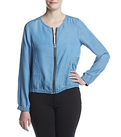 Fever™ Chambray Bomber Jacket