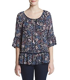Fever™ Floral Printed Blouse