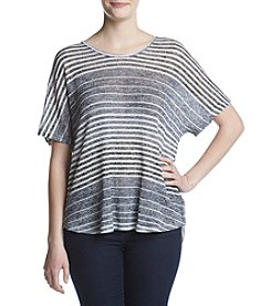 Oneworld® Split Back Striped Sweater