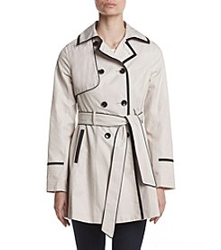 Betsey Johnson® Corset Back Trench Coat