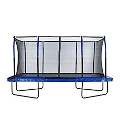 Upper Bounce® Easy Assemble Mega Rectangular Trampoline with Fiber Flex Enclosure System