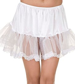 Lace White Adult Petticoat