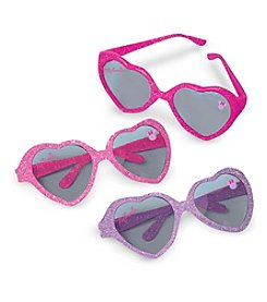 Disney® Minnie Mouse Set of 6 Glitter Heart Sunglasses