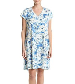 Miss Elaine® Print Nightgown
