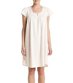 Miss Elaine® Silk Nightgown